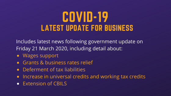 Updated Measures to Support Businesses and Individuals through Coronavirus COVID-19 Crisis