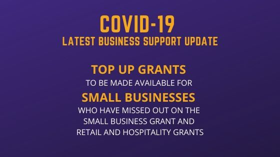 Top Up Grants for Small Businesses on their way